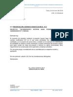 CITE 59.- CARTA PARA PRESENTAR CONTRATO MODIFICATORIO N°2
