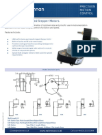 p535 Series Geared Stepper Motor Datasheet