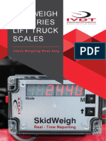 SkidWeigh ED2 Brochure, forklift onboard weighing scale