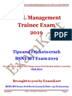 BSNL MT Exam 2019 Strategy Guide to Crack Exam