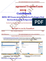 BSNL MT Exam 2019 Guidebook