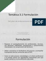 3.1 Formulación _2016