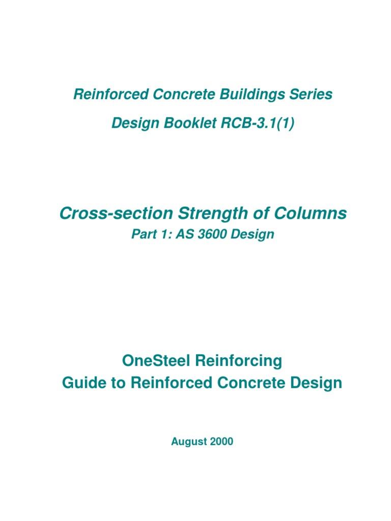 Cross-Section Strength of Columns_Design Booklet | Strength Of Materials |  Column