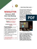 Moraga Rotary Newsletter Feb 6 2019