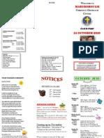 Newsletter Oct 24 2010