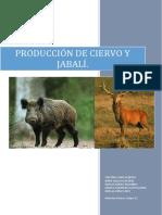 produccion de ciervo y jabali