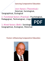 Factors Influencing Comparative Education