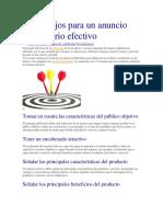 12 Consejos Para Un Anuncio Publicitario Efectivo