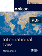 Textbook on International Law 7th Edition- Martin Dixon