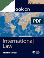 Textbook on International Law 7th Edition- Martin Dixon