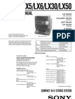 Manual de Servicio Sony HCD-LX5LX6LX30LX50S Service Manual