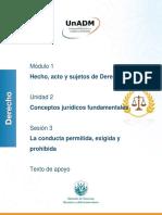 Derecho jurídica y facultades