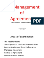 Management of Agreement