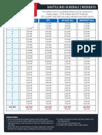 Bus Schedule Weekdays