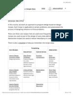 Design Recipes | HtC1x | edX