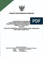 Peraturan Bersama Menteri Pertanian Dan Kepala BKN Tentang Ketentuan Pelaksanaan Jabatan Fungsional Analis Pasar Hasil Pertanian Dan Angka Kreditnya