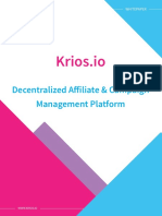 Original Krios ICO Whitepaper - Illegal Unregistered Securities