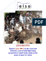 Jallikattu First Report in Court 2007