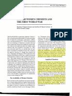 British Women Chemists & World War 1