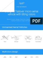 Design of failover micro aerial vehicle with tilting rotors