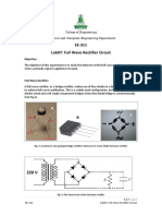 Full Wave Rectifier Circuit lab manual