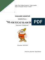 Evaluare Sumativă 1 Grupa Mica 2018-2019