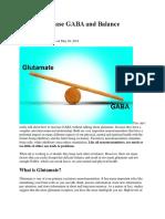 How to Increase GABA and Balance Glutamate