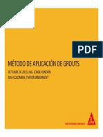 Metodo de Aplicacion de Grouts J.rendon