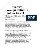 Netanyahu's Foreign Policy Is Bad for Israel | Dahlia Scheindlin | Foreign Affairs