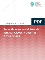 La Evaluacion en El Area de Lengua Primaria