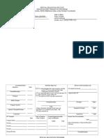 ITP Form (Blank Template)PREVOC
