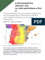 La genética desmonta los 'países catalanes'