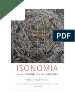 Kojin Karatani - Isonomia and the origins of philosophy