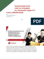 Errónea interpretación de la indemnización en el despido fraudulento e incausado según el V Pleno Jurisdiccional.docx