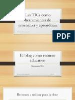 El blog como herramienta de enseñanza y aprendizaje