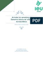 Actividad de Aprendizaje 1 Elementos Básicos Del Análisis Microeconómico