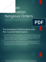 The Post-Reformation Religious Orders