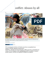 Yemen Conflict (Abuses by Al Parties)