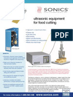 Ultrasonic Food Cutting Data Sheet