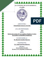 Informe Lectura (9) Los Cambios Climáticos Y Efecto Invernadero en República Dominicana