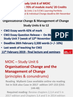MOIC L6 - Final 2018-19 - Change Conundrum & Managing Change - Student Version