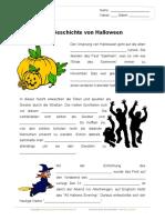 Halloween Lueckentext