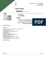 ARTILEC 02200 Alarmas Centrales Portman Central Departamento Hm140