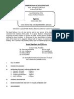 10-25-2010 Special Board Mtg  Agenda