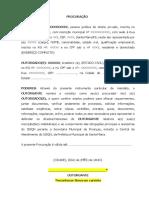 Modelo de Procuração - Representar Empresa