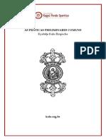 Kalu Rimpoche as Práticas Preliminares Comuns