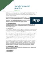 Principales Características Del Continente América