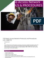 Lte Radio Access Network Protocols and Procedures