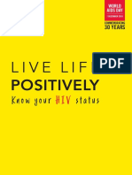 Live Life Positively Know Your Hiv Status