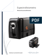 Manual Para El Uso Del Espectofotometro